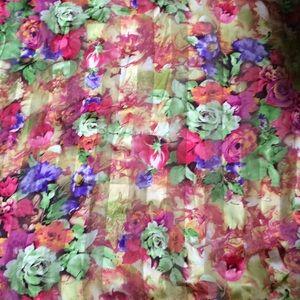 Vintage oversized floral blanket scarf
